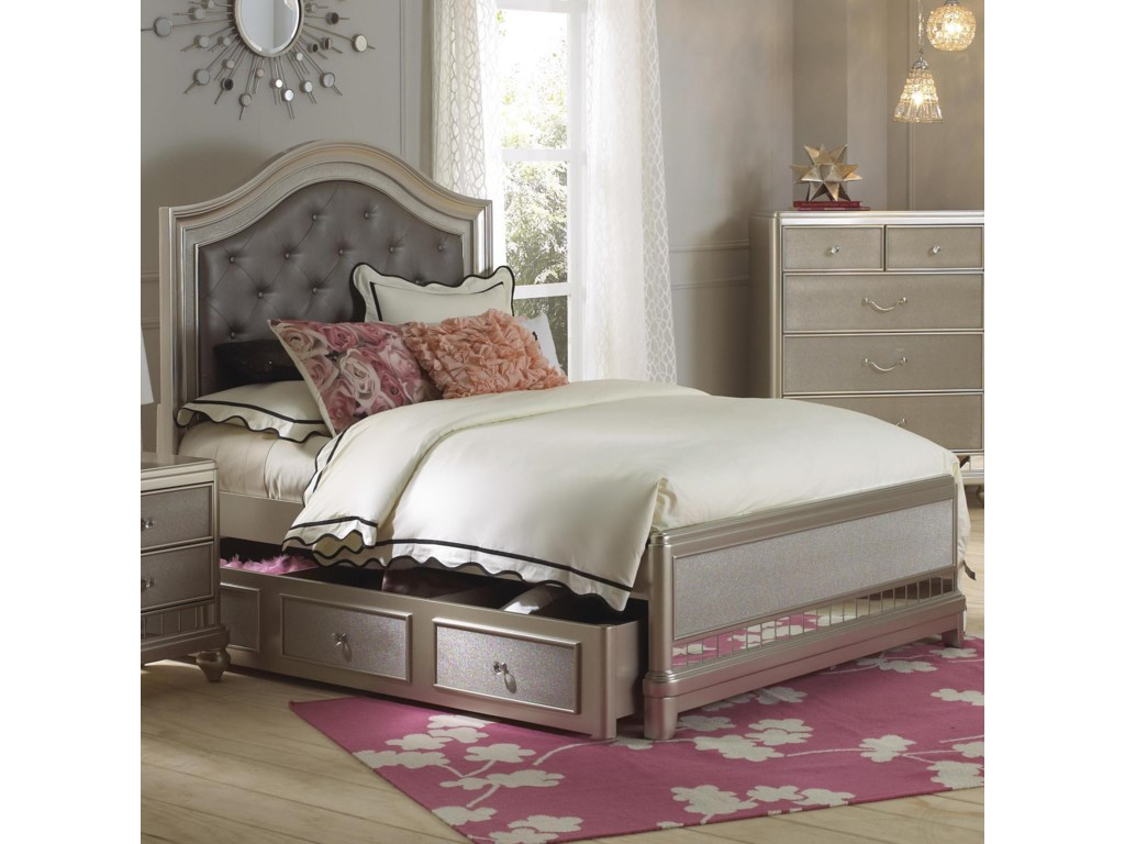 Samuel Lawrence Lil DivaFull Panel Bed w/ Trundle