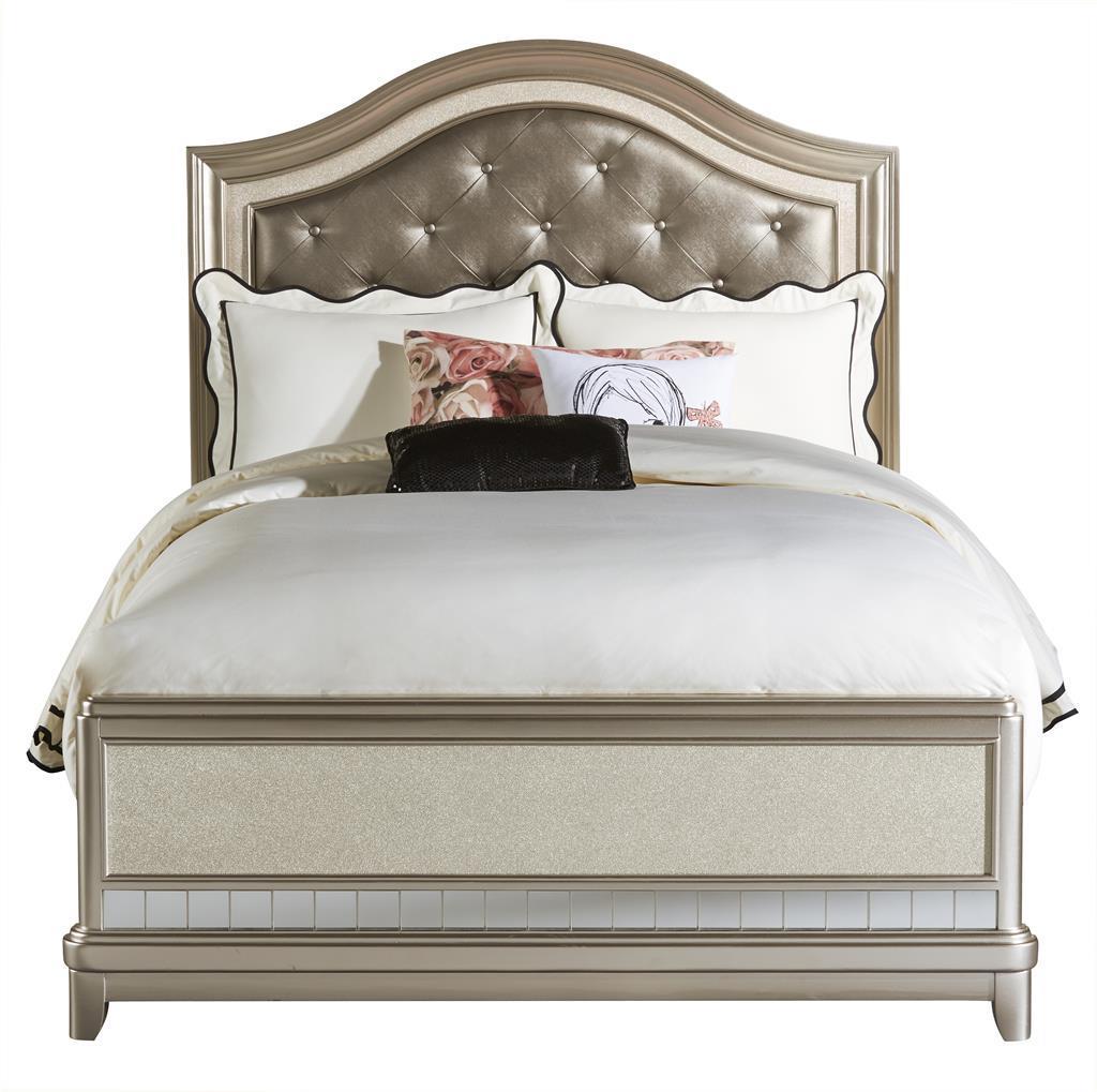 samuel lawrence lil diva full panel bed w upholstered headboard