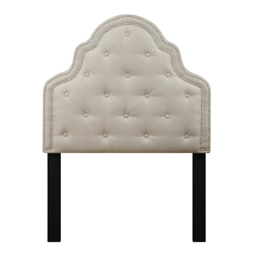 Samuel Lawrence Lily Diamond Tufted Twin Upholstered Headboard
