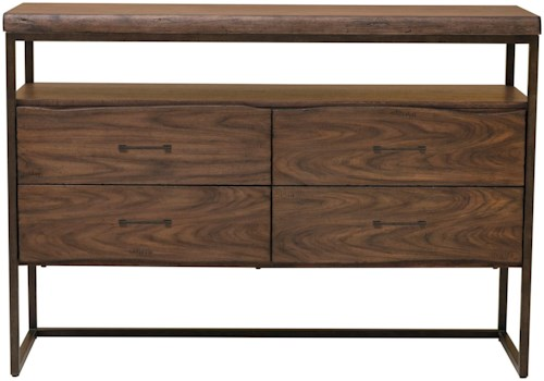Samuel Lawrence Lincoln Park Server with Live Edge Drawers