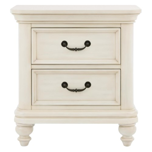 Kidz Gear Everly 2 Drawer Nightstand w/ Rounded Molding