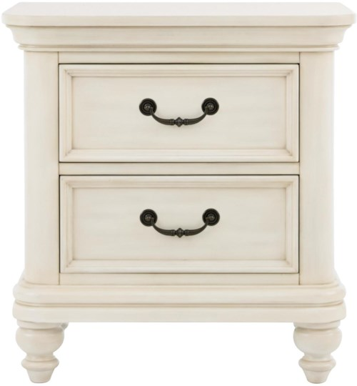 Samuel Lawrence Madison 2 Drawer Nightstand w/ Rounded Molding