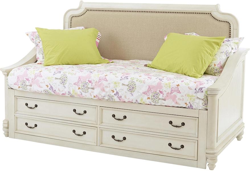 Samuel Lawrence Madison 8890 750 751 643 Slatr 33 Upholstered Daybed W Storage Corner Furniture Daybeds