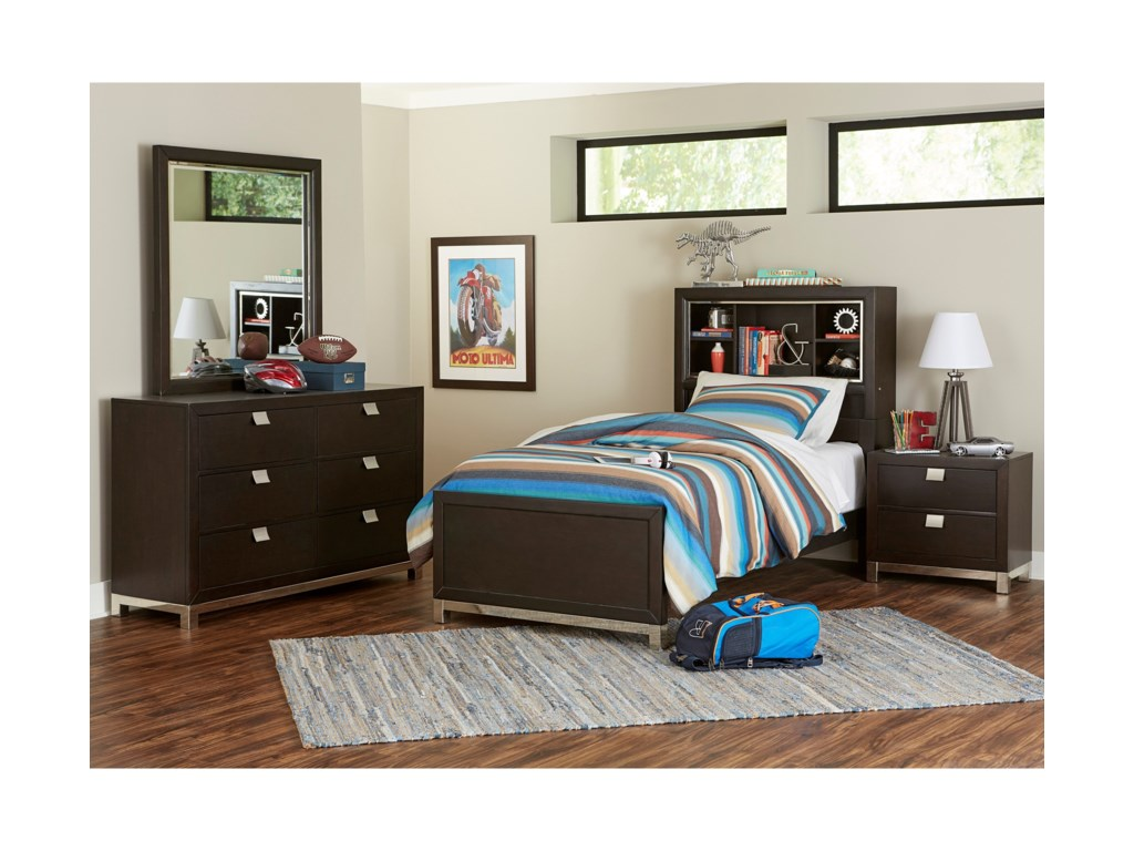 Samuel Lawrence Metro DarkTwin Bookcase Bed