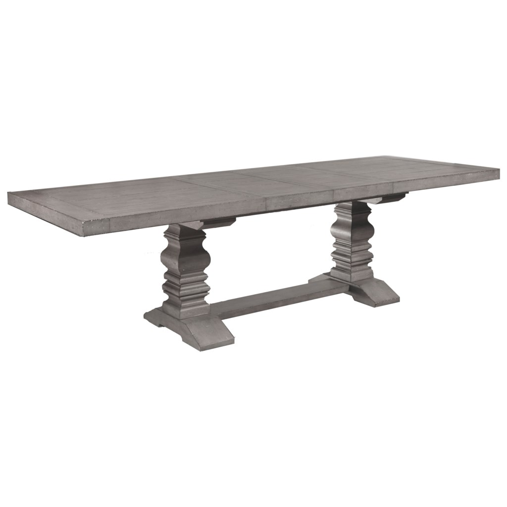 Samuel Lawrence Prospect Hill 6 Piece Trestle Table and