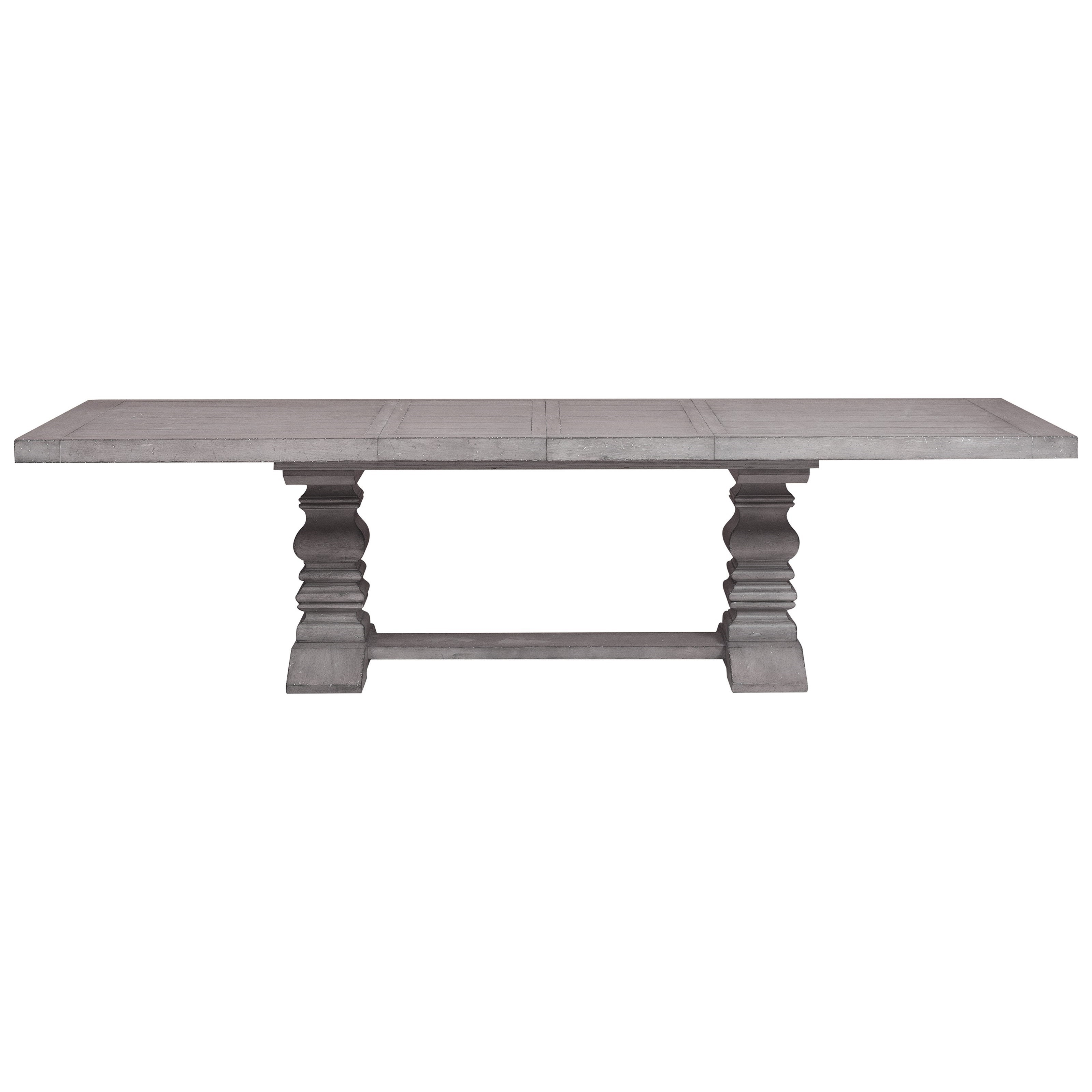 Prospect Hill Trestle Dining Table With Square Turned Pedestal Legs By  Samuel Lawrence