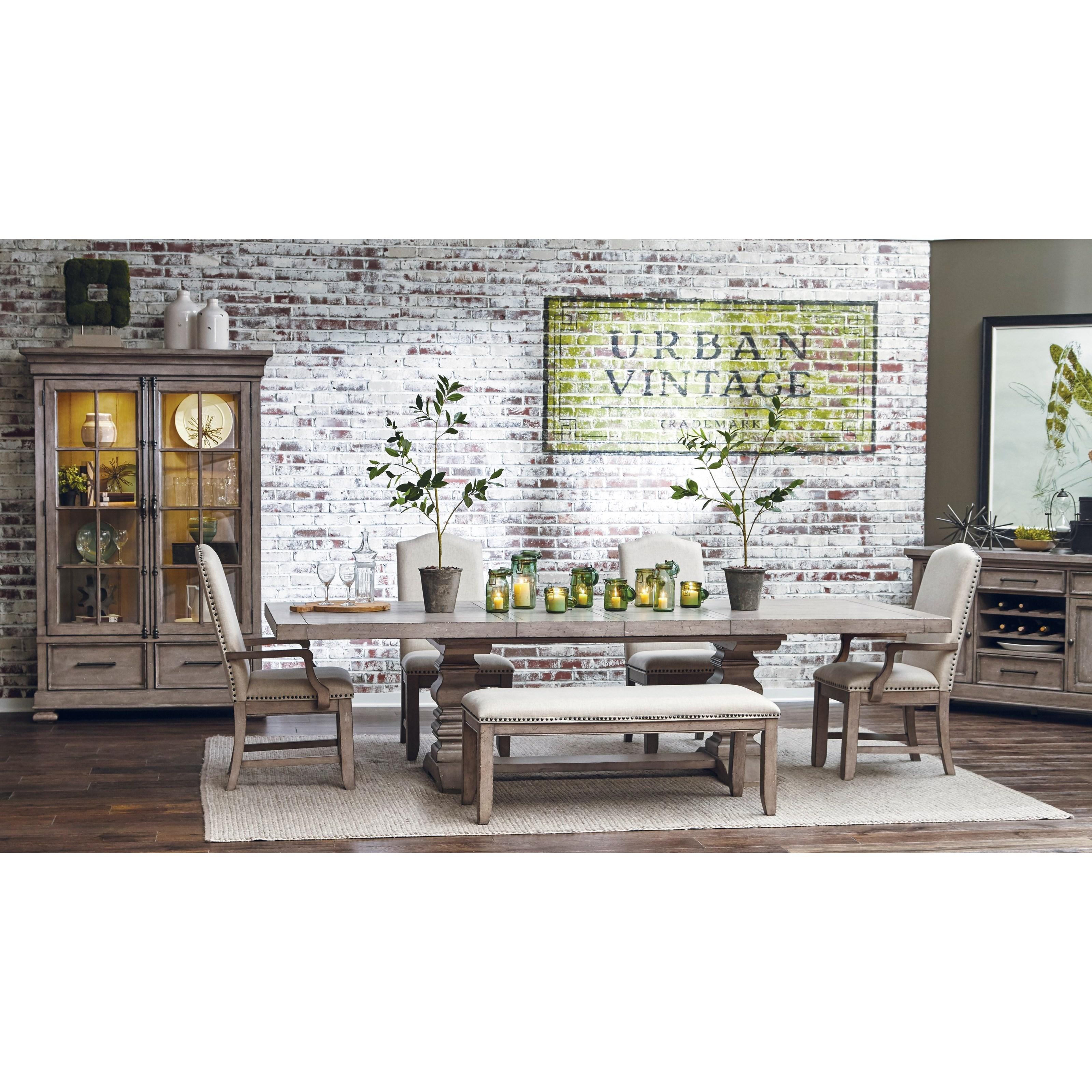 ... Morris Home Furnishings Webster StreetWebster Street Trestle Dining  Table