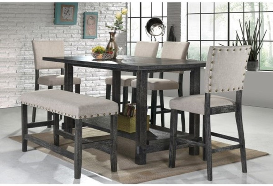 Samuel Lawrence Provence Rustic 6 Piece Pub Table Stool And Bench Set Dream Home Interiors Pub Table And Stool Sets