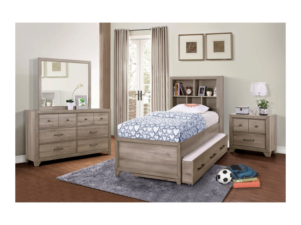 Samuel Lawrence River CreekTwin Bookcase Bed