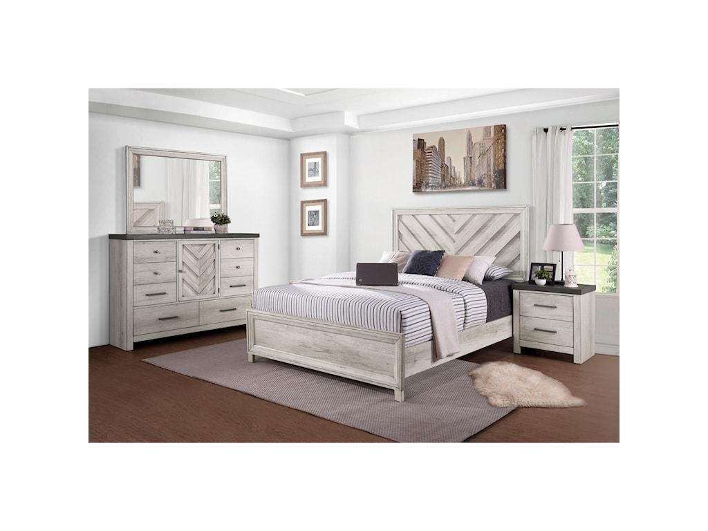 Samuel Lawrence RiverwoodQueen Panel Bed