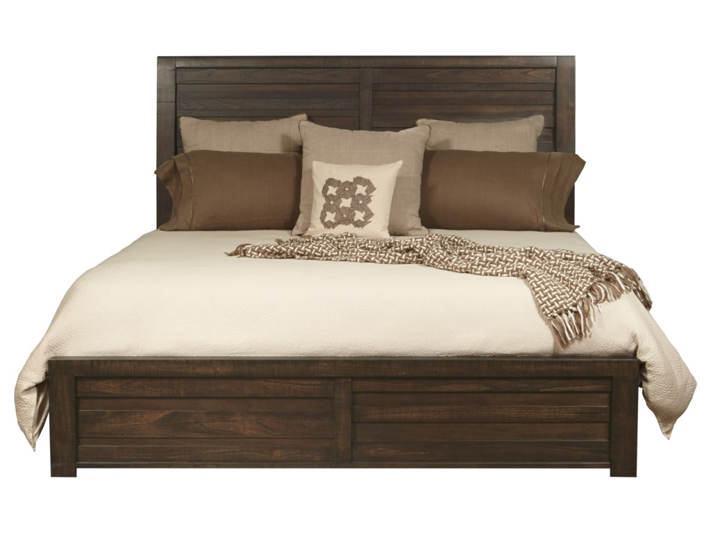 Samuel Lawrence Ruff Hewn Queen Bed with Staggered Planking ...