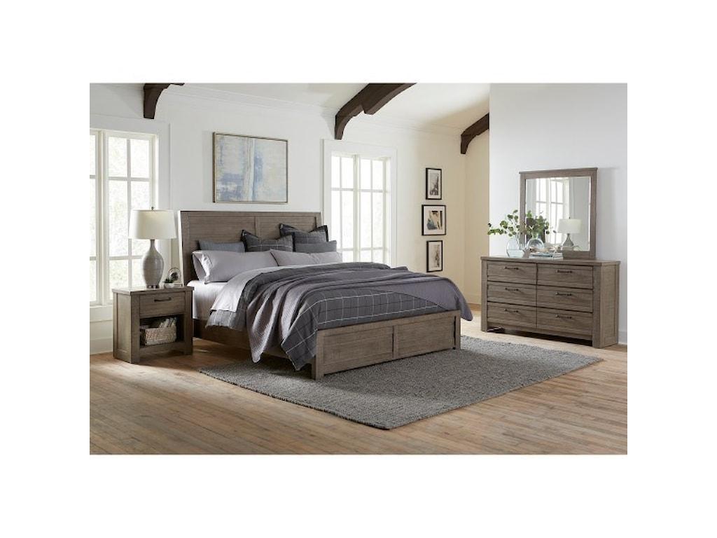 Samuel Lawrence Ruff Hewn GrayKing Bedroom Group