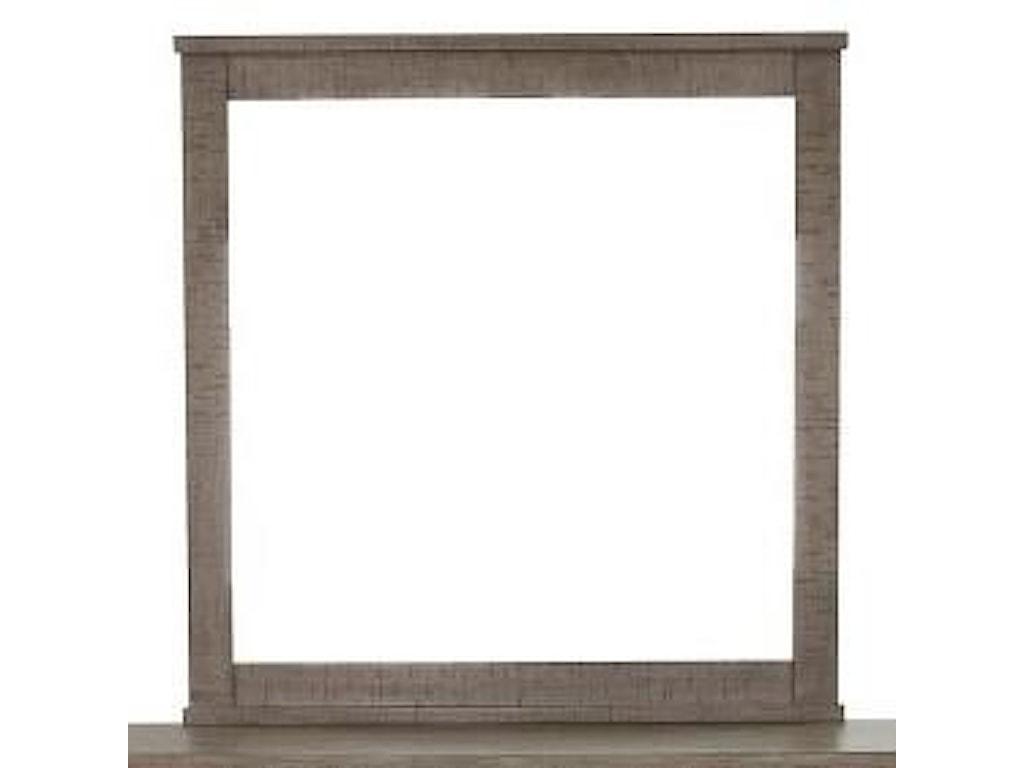 Samuel Lawrence Ruff Hewn GrayLandscape Mirror