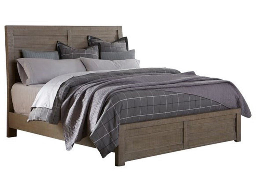 Samuel Lawrence Ruff Hewn GrayKing Bed