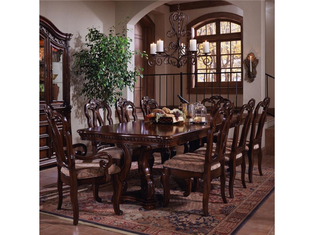 Samuel Lawrence San Marino Double Pedestal Dining Table and Chair ...