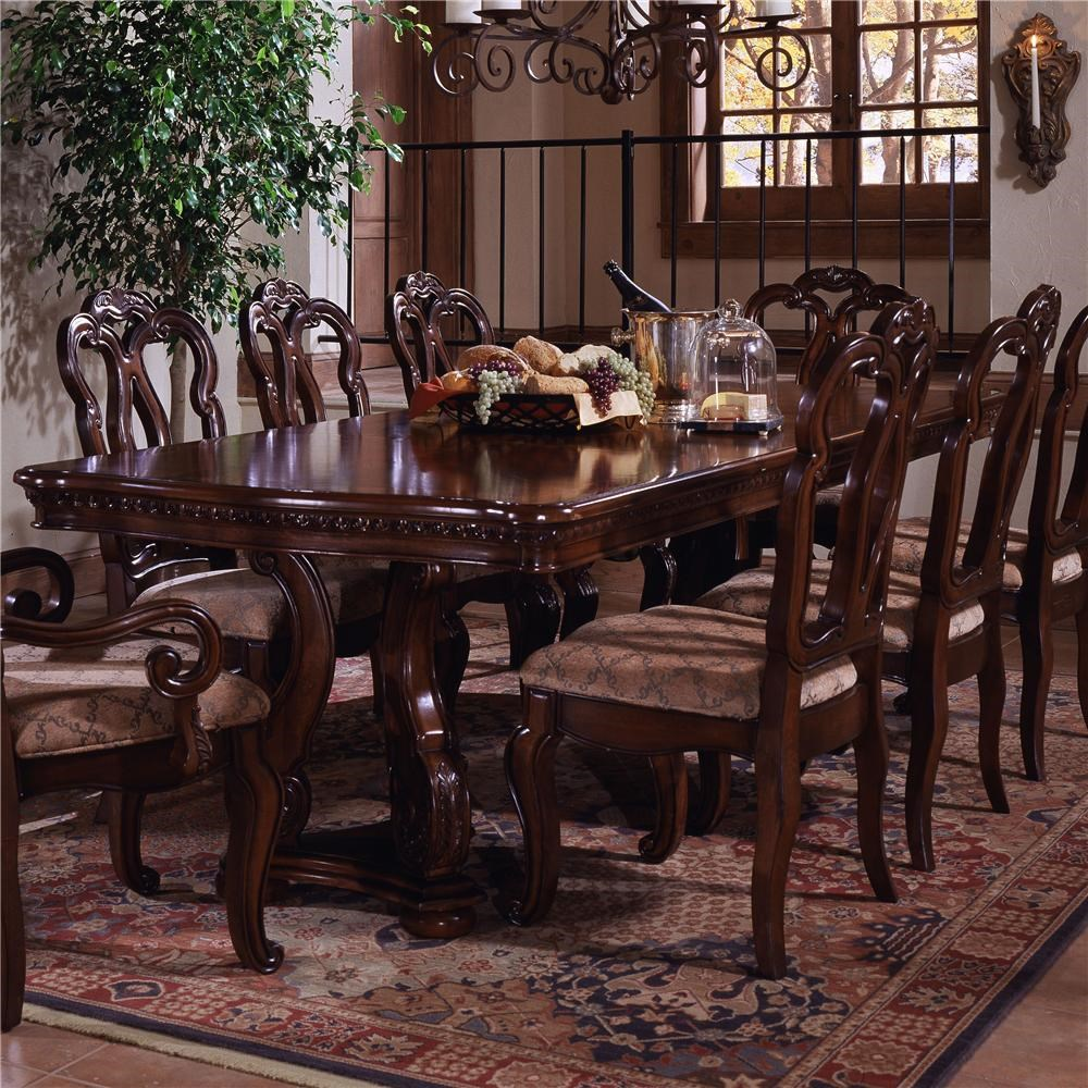 Great Samuel Lawrence San Marino Pedestal Extension Formal Dining Table