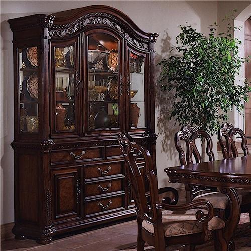 Samuel Lawrence San Marino Buffet And Glass Door Hutch Godby Home