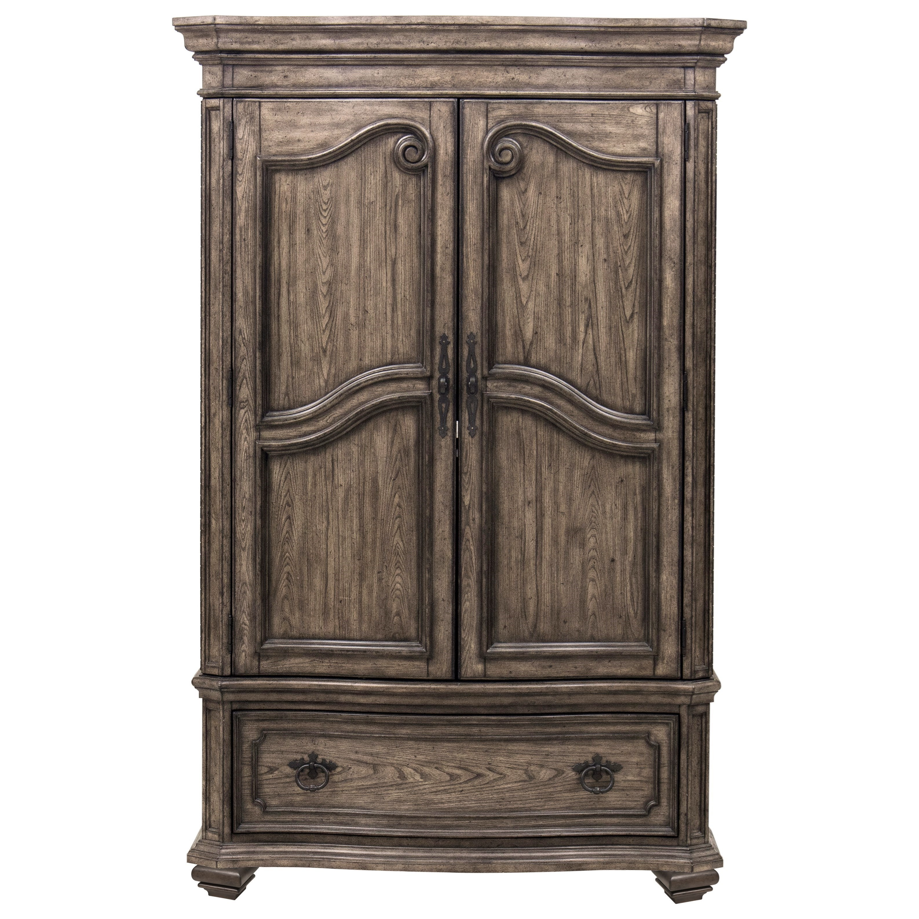Merveilleux Samuel Lawrence Santa Barbara Traditional Armoire With 6 Drawers And 3  Shelves
