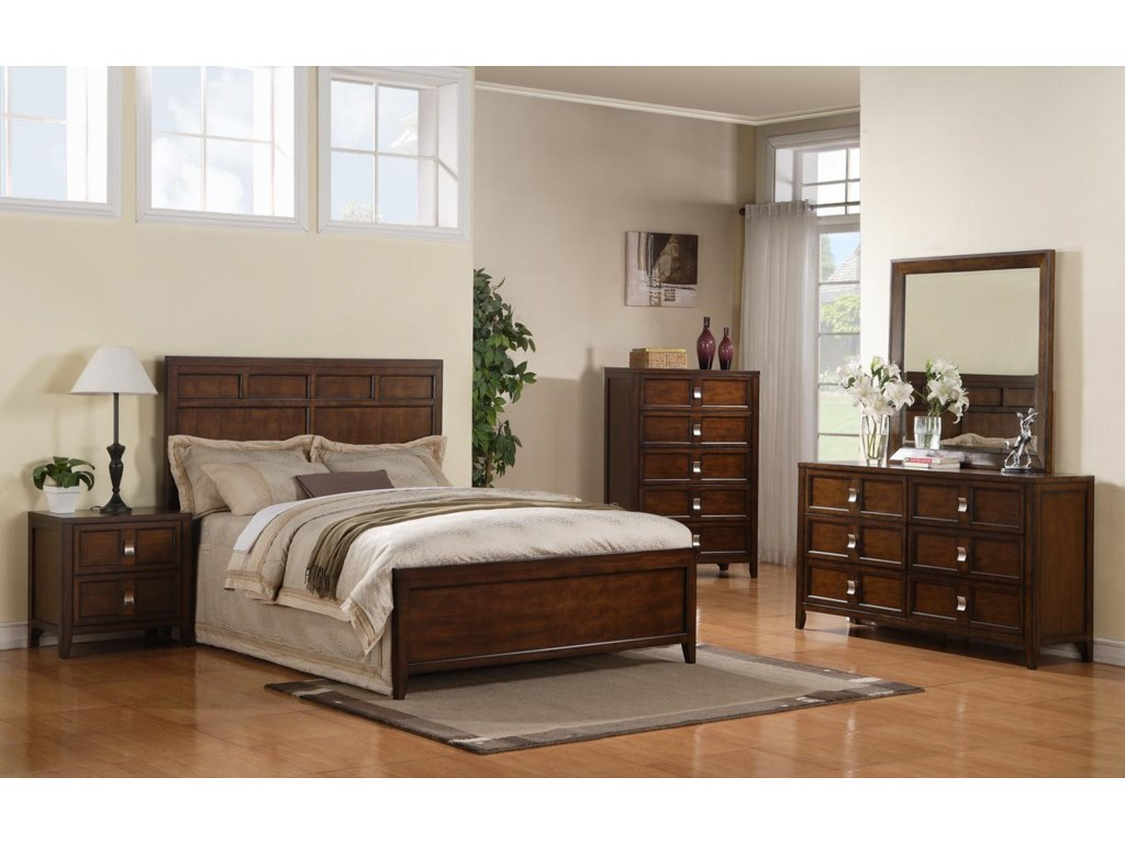 Shown with Night Stand, Bed, Dresser, and Mirror