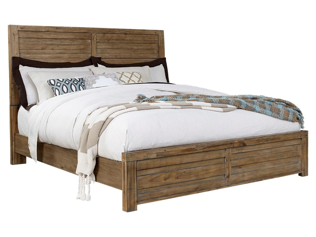 Samuel Lawrence SoHo Queen Bed with Plank-Style Headboard | Royal ...
