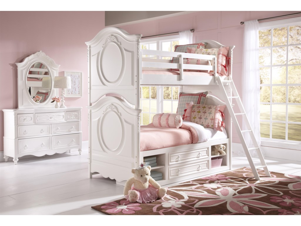 Shown with Bunk Beds with Ladder and Underbed Storage Unit