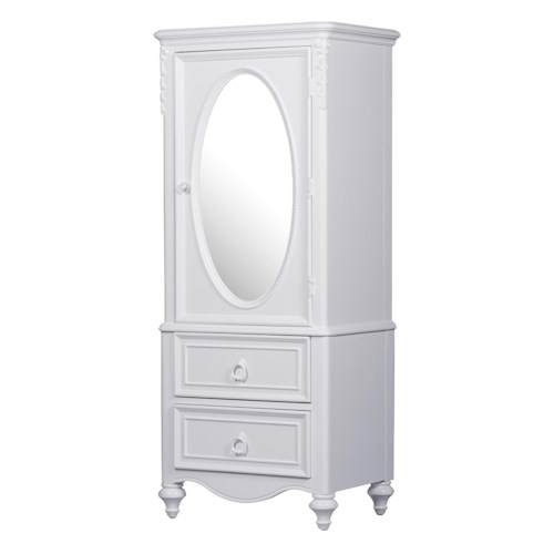 Kidz Gear Eleanor Door Wardrobe with Oval Mirror