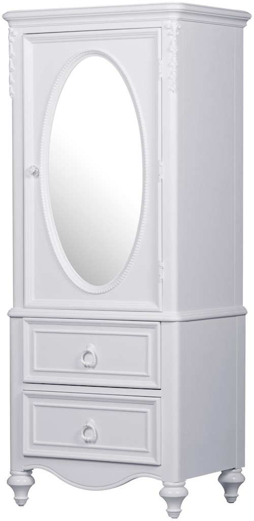 Samuel Lawrence SweetHeart Youth Door Wardrobe with Oval Mirror