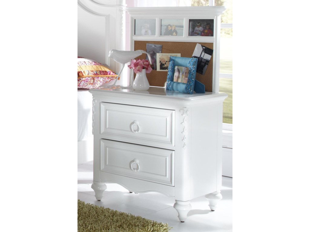 Samuel Lawrence SweetHeart YouthNightstand with Back Panel