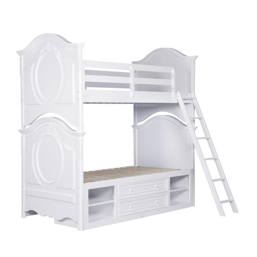 Kidz Gear Eleanor Twin Bunk Bed with Underbed Storage