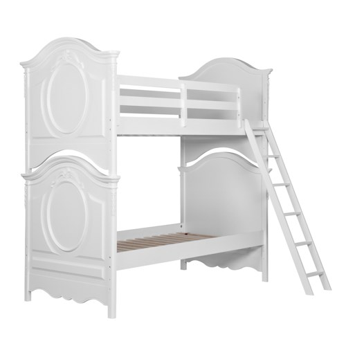 Kidz Gear Eleanor Bunk Bed with Serpentine Top and Floral Carvings