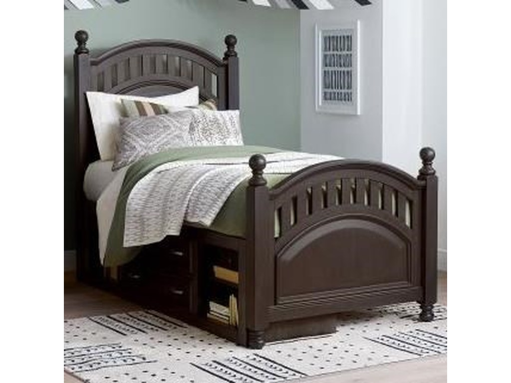 Samuel Lawrence TundraTwin Poster Bed with Underbed Storage Unit