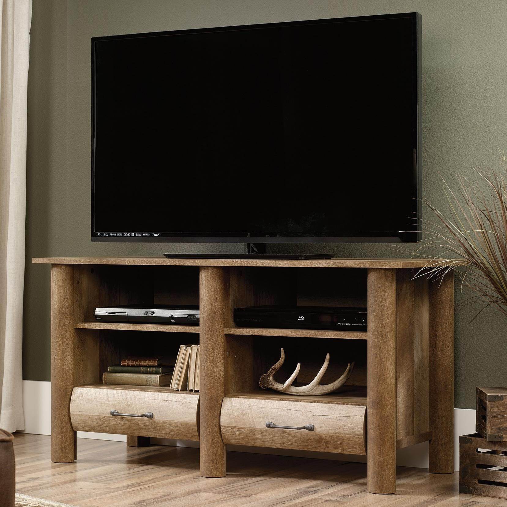 Log Furniture Tv Stand #36 - Sauder Boone MountainTV Stand ...
