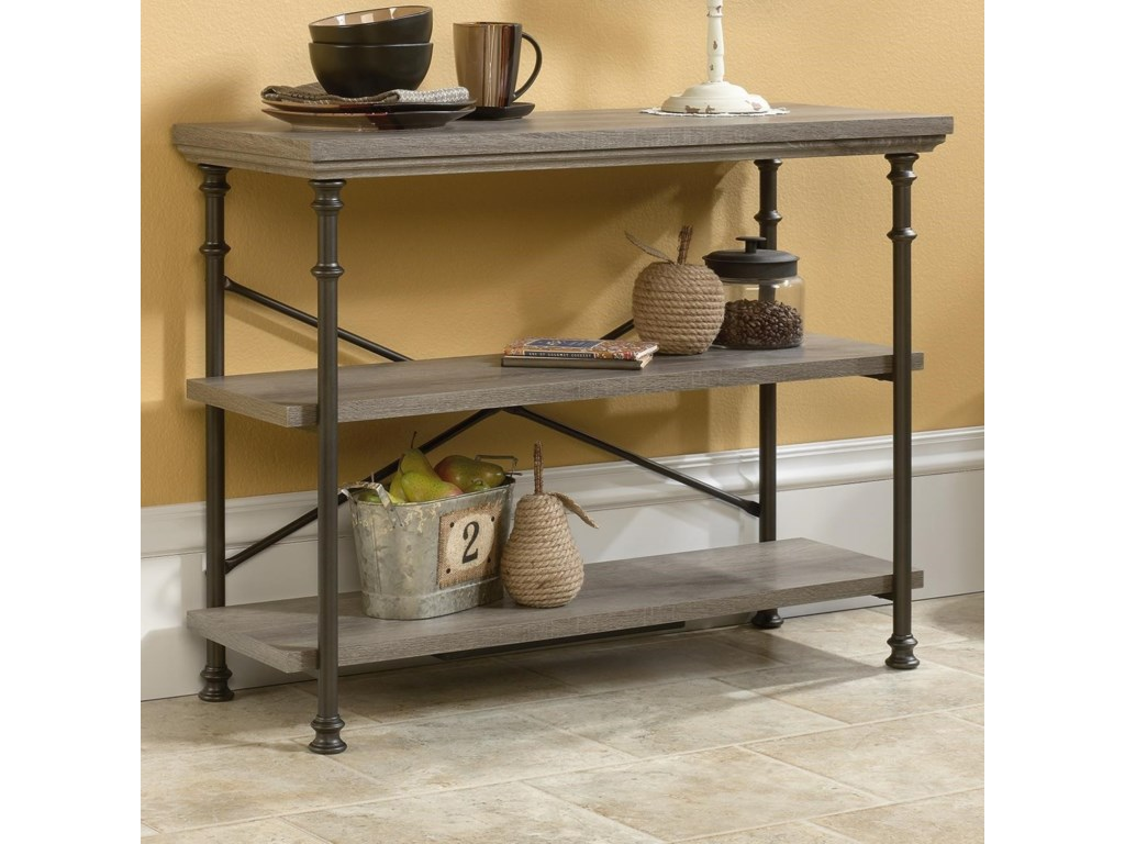 Sauder canal street anywhere consoletv stand with metal frame sauder canal street anywhere consoletv stand with metal frame miskelly furniture sofa tablesconsoles geotapseo Gallery