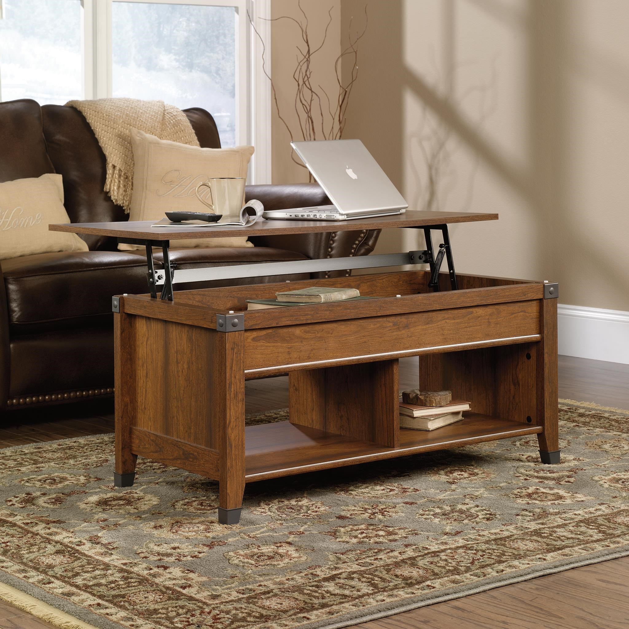Carson Forge 414444 Lift Top Coffee Table With Plank Look And Industrial  Accents By Sauder
