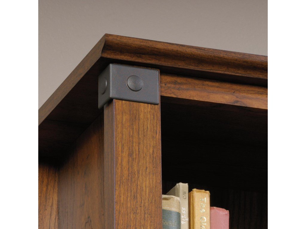 Sauder Carson ForgeLibrary with Doors