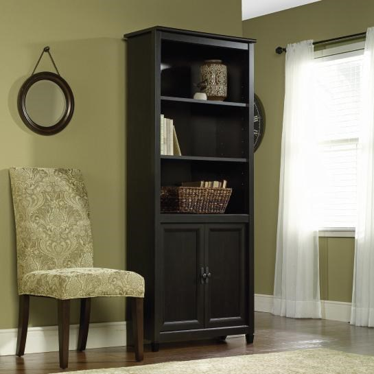 Sauder Edge Water 409046 Library Bookcase With 2 Doors Coconis