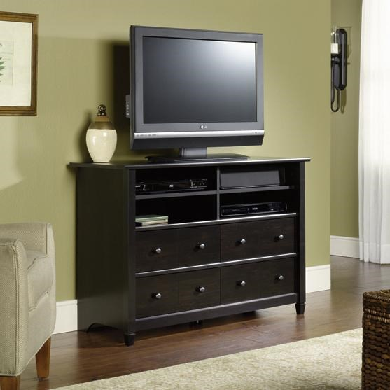 Sauder Edge Water 409242 4 Drawer Highboy Tv Stand With 4 Shelves
