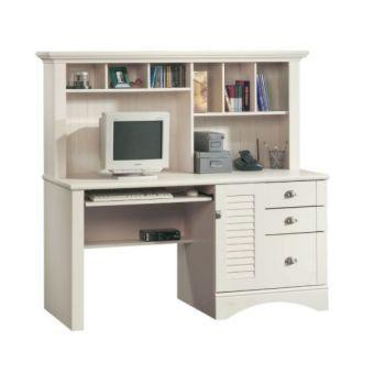 Sauder Harbor ViewComputer Desk With Hutch ...