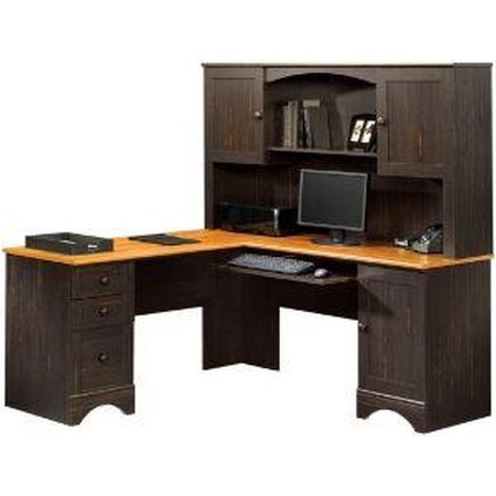 Corner Computer Desk and Hutch