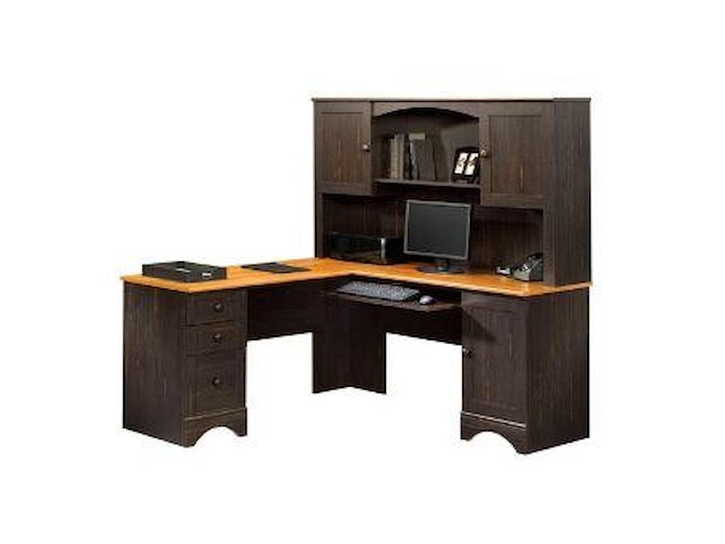 Sauder Harbor ViewCorner Computer Desk