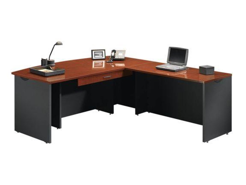 Furniture l shape desks sauder home office executive desk with return and pencil drawer sauder home officeexecutive desk with return and pencil drawer