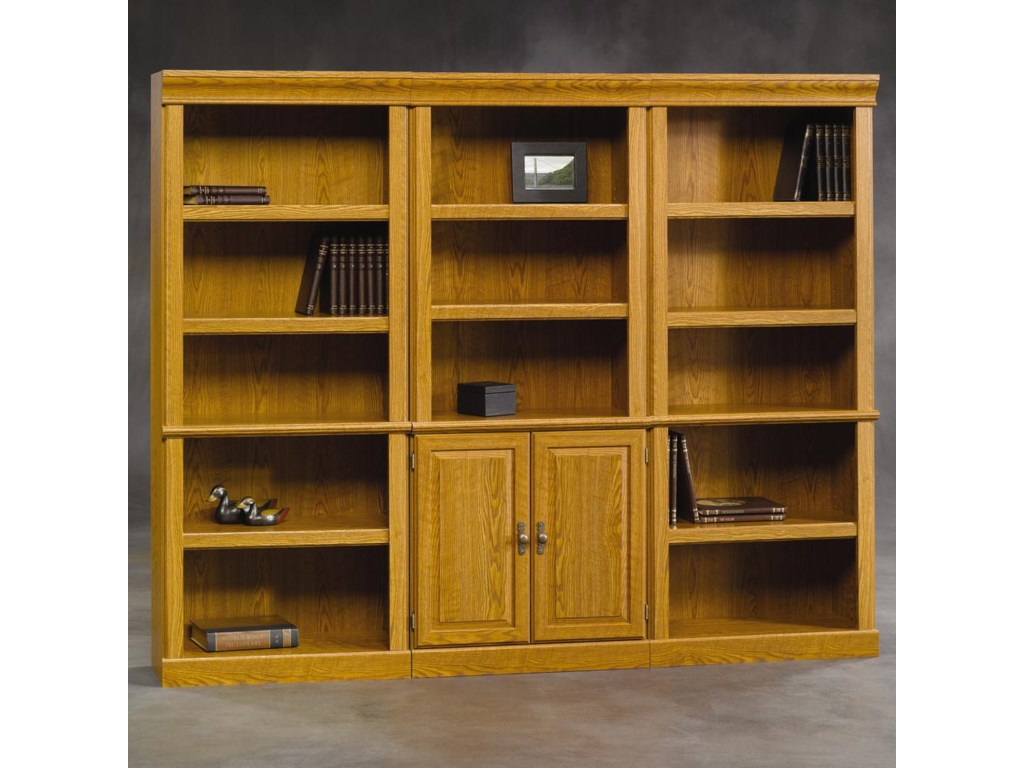 Sauder Orchard Hills3 Pc. Library Bookcase Wall