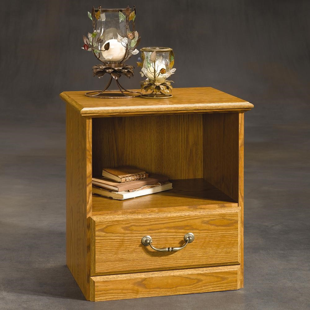 Sauder Orchard Hills 401290 1 Drawer Night Stand Coconis Furniture
