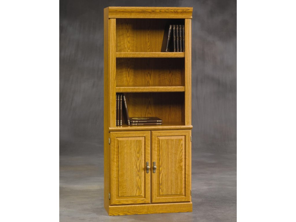 Orchard Hills Bookcase With Open Top And Doors On The Bottom By Sauder