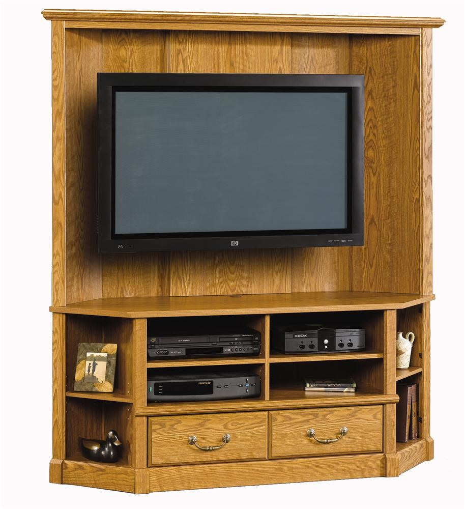 Sauder Orchard Hills 403818 Corner Entertainment Credenza Becker