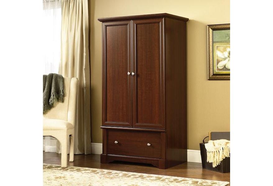 Sauder Palladia 411843 Bedroom Door Armoire Corner Furniture Armoires