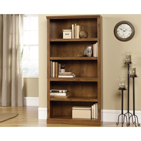 5-Shelf Bookcase (Oiled Oak)