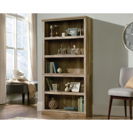 5-Shelf Bookcase (Lintel Oak)