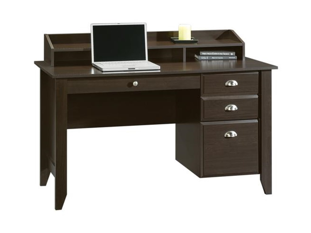 Sauder Shoal Creek Desk With Keyboard Drawer Westrich Furniture