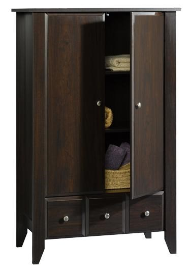 Sauder Shoal Creek 2 Door Armoire With Drawer | Miskelly Furniture |  Armoires